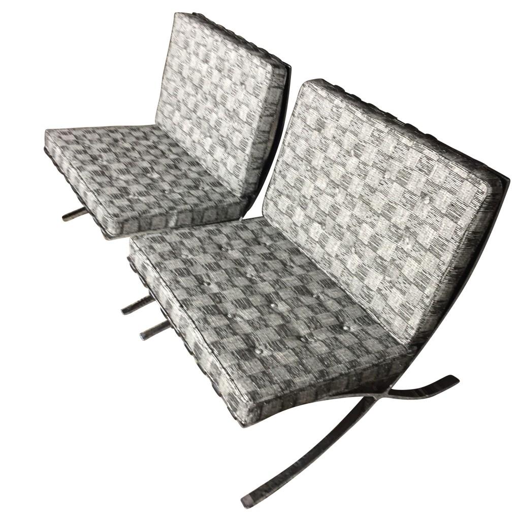 Zwei Sessel 'Barcelona', Mies van der Rohe 1929