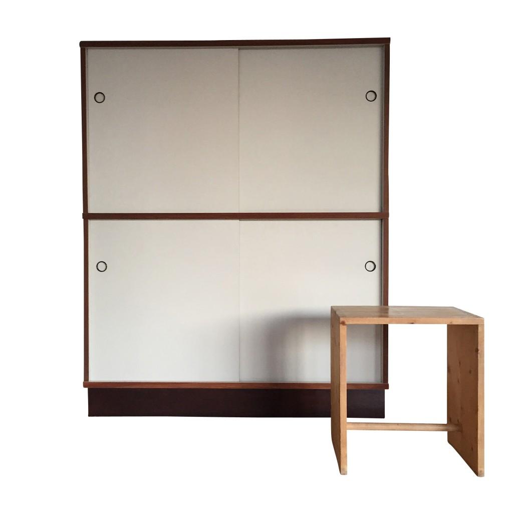 Möbelsystem M 125, viertüriges Highboard, Hans Gugelot 1950/56