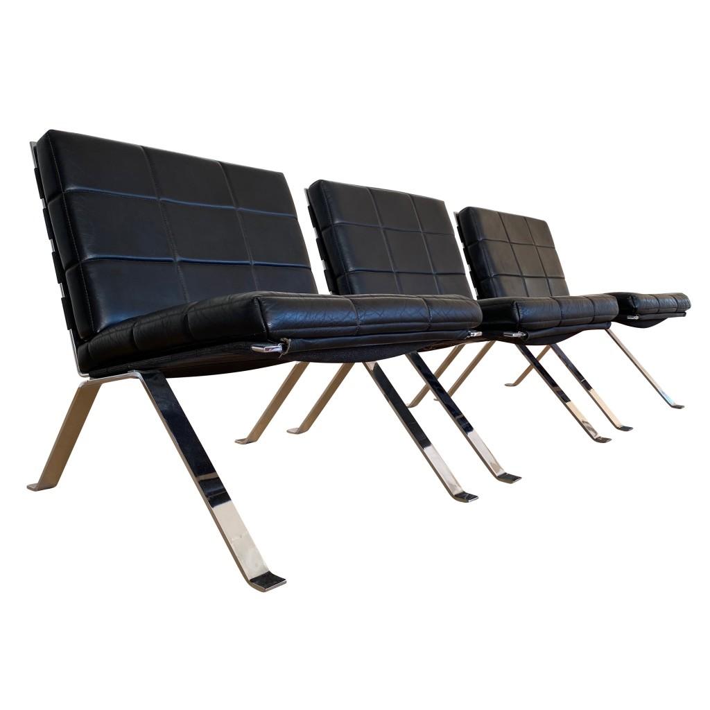 Drei Loungesessel 'Eurochair 1600', Girsberger Werksdesign 1961