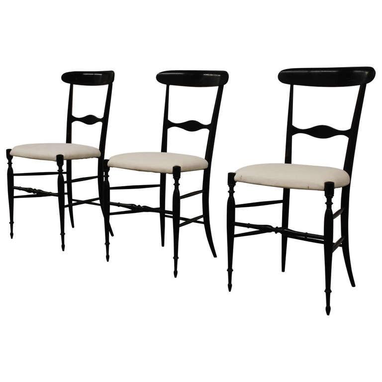 Drei Stühle 'Campanino', Chiavari um 1950
