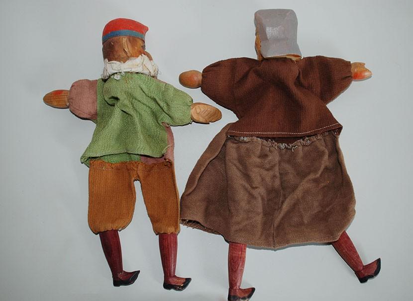 Paar Handpuppen, wohl 1920/30er Jahre