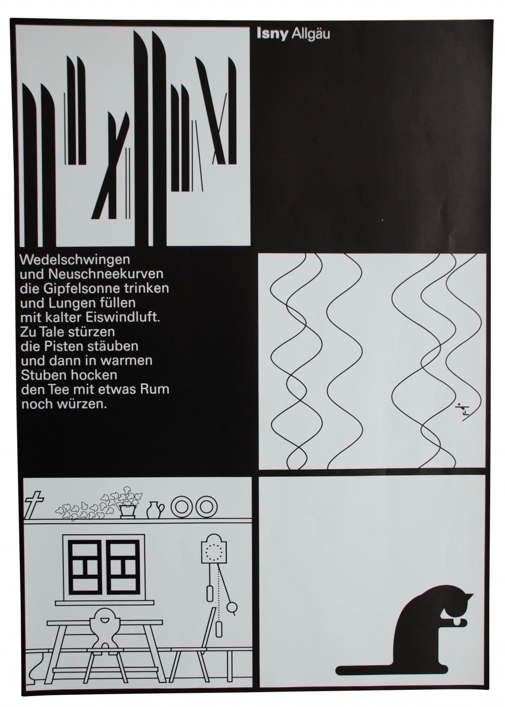 Künstlerplakat 'Isny Allgäu', Otl Aicher 1977