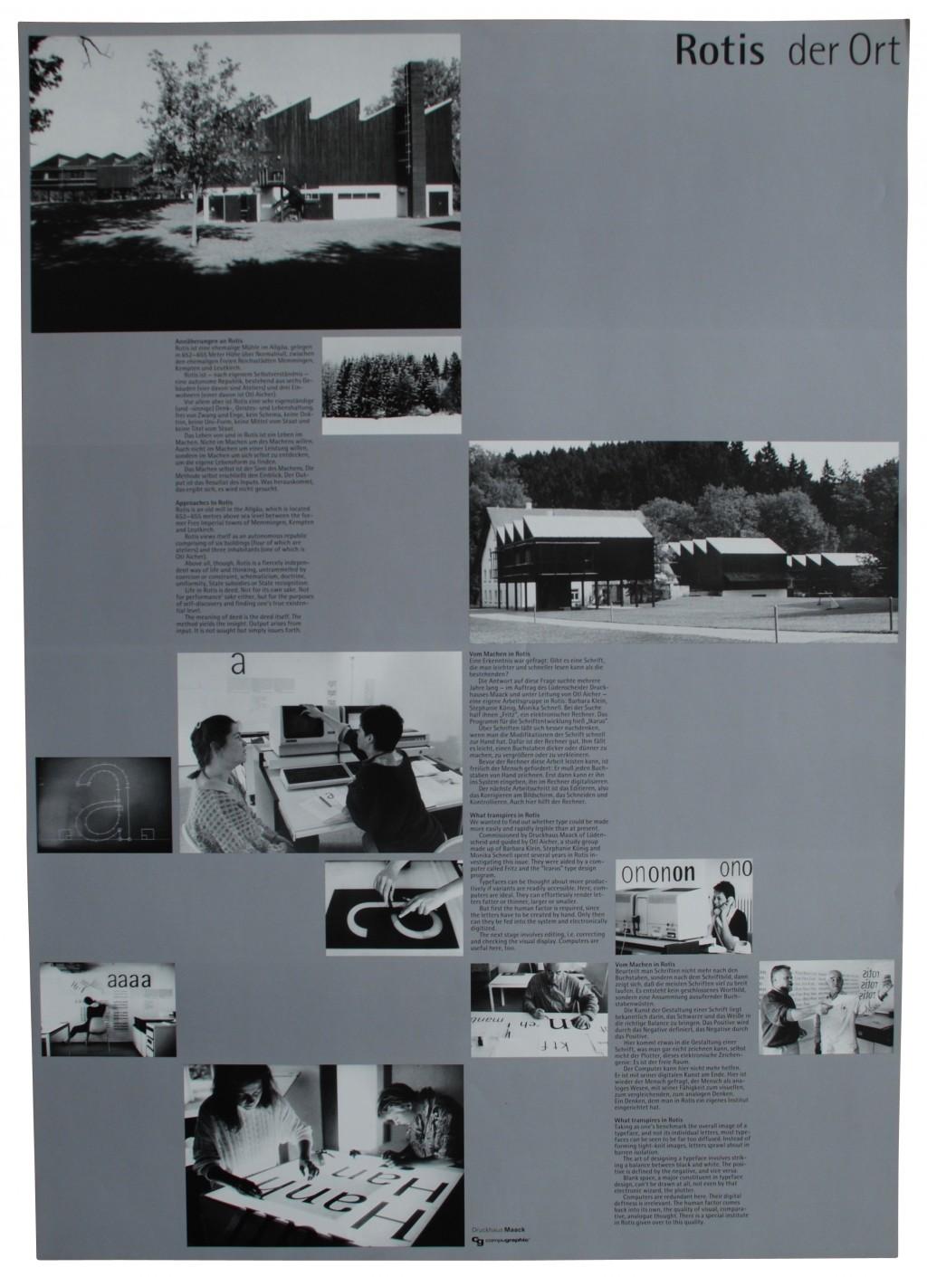 Plakat 'Rotis der Ort', Otl Aicher 1988